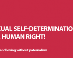 Sexual Self-Determination is a Human Right!