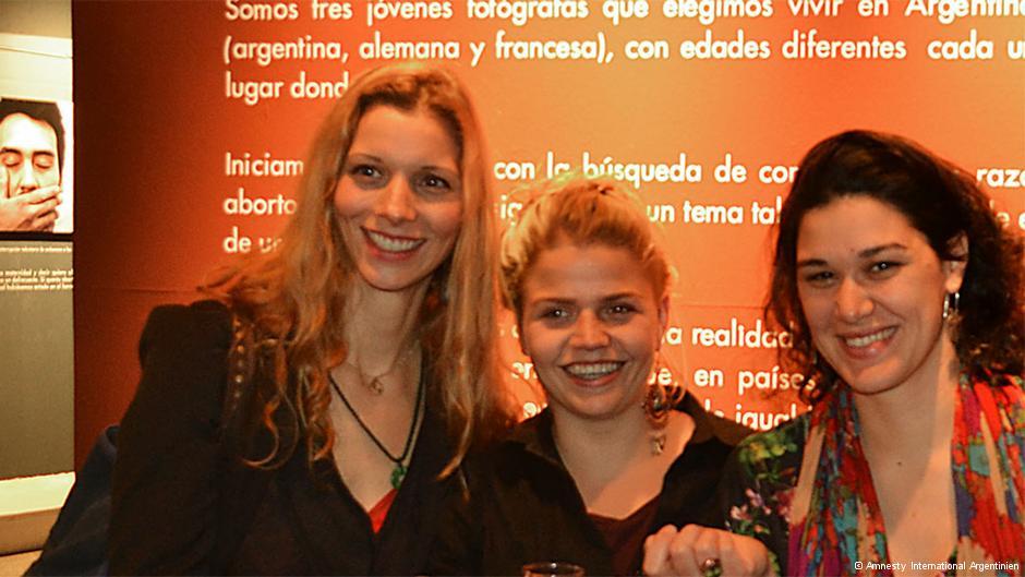 Die drei Fotografinnen des Fotoprojektes, Lisa Franz, Léa Meurice und Guadalupe Gómez Verdi