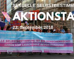 Aktionstag für sexuelle Selbstbestimmung in Berlin