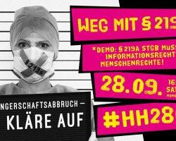 Aufruf: Internationaler Aktionstag für die Entkriminalisierung des Schwangerschaftsabbruchs (28.9.2018)
