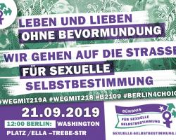 Aufruf: Aktionstag für sexuelle Selbstbestimmung am 21.9.2019 in Berlin