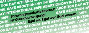 Pressemitteilung Safe Abortion Day 2020: Schwangerschaftsabbruch ist Grundversorgung!