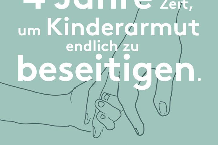 Breites Bündnis fordert: Kinderarmut muss zentrale Rolle in den Koalitionsverhandlungen spielen  Auftakt der Kampagne #4JahreGegenKinderarmut