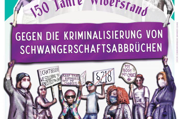 Berliner Aktion zum bundesweiten Aktionstag zu 150 Jahre Paragraf 218 StGB