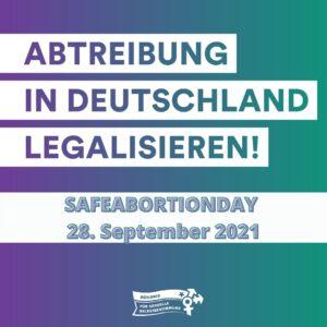 Pressemitteilung: Deutschland feiert den Safe Abortion Day. Schluss mit 150 Jahren Kriminalisierung!