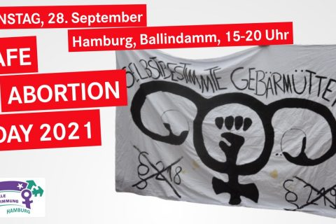 Protest am Safe Abortion Day 2021 in Hamburg